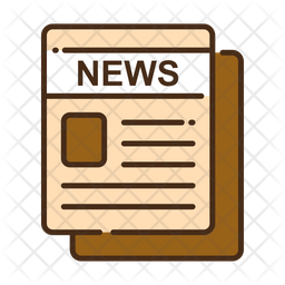 News Colored Outline Icon