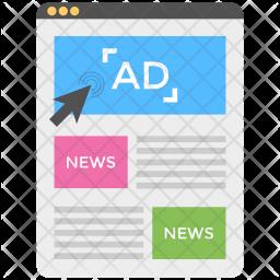 Newspaper Advertising Website Icon