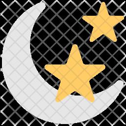 Night Flat Icon