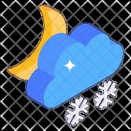 Night Snow blizzard Icon