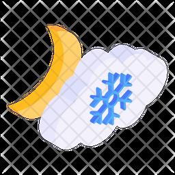 Night Snowfall Icon