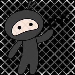 Ninja Say Bye Sticker Icon