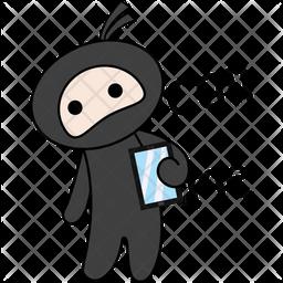 Ninja Say Call Me Icon