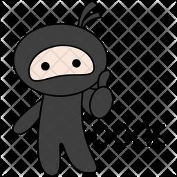 Ninja Say Done Sticker Icon