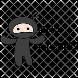 Ninja Say Good Morning Sticker Icon