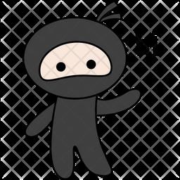 Ninja Say Hi Sticker Icon