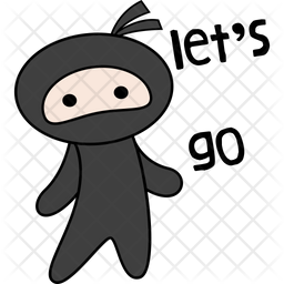Ninja Say Lets Go Sticker Icon