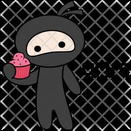 Ninja Say Yum Sticker Icon