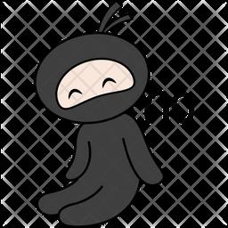 Ninja Saying No Sticker Icon