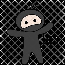 Ninja Saying Yes Sticker Icon