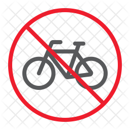 No bicycle Icon