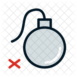 No Bomb Icon Of Colored Outline Style Available In Svg Png Eps Ai Icon Fonts