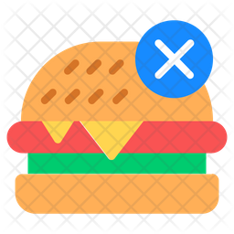 No Burger Icon