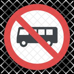 No Buses Icon