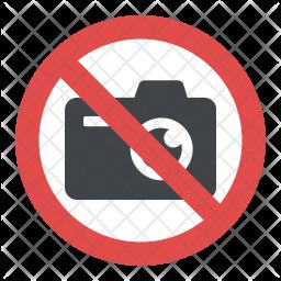 No Camera Sign Icon