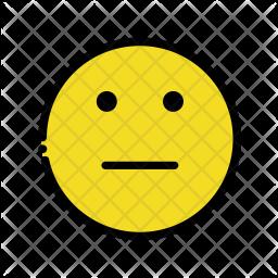 No expression emoji Emoji Icon