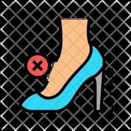 No Heel Icon