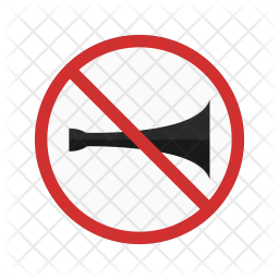 No horn zone Icon