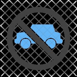 No parking zone Icon