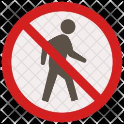 No passage Icon