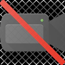 No recording Flat Icon