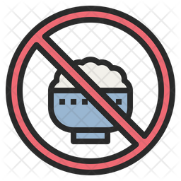 No Rice Icon Of Colored Outline Style Available In Svg Png Eps Ai Icon Fonts