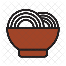 Noodle Colored Outline Icon