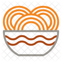 Noodles Dualtone Icon