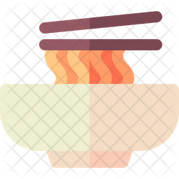 Noodles Flat Icon