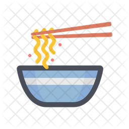 Noodles Colored Outline Icon