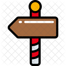 North Pole Sign Icon