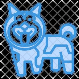 Norwegian Elkhound Dog Icon