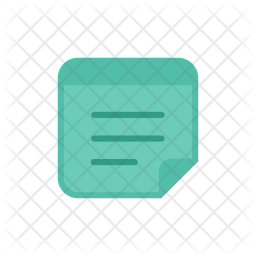 Notes Colored Outline Icon