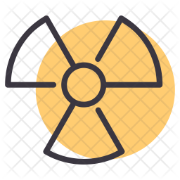 Nuclear Line Icon