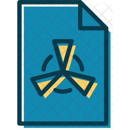 Nuclear Lessons Colored Outline Icon