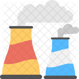 Nuclear Plant Flat Icon