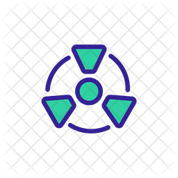 Nuclear Radiation Colored Outline Icon