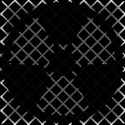 Nuclear Symbol Glyph Icon