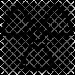 Nuclear symbol Line Icon