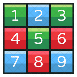 Number Kit Colored Outline Icon