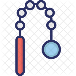 Nunchaku Icon Of Colored Outline Style Available In Svg Png Eps Ai Icon Fonts
