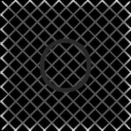 O Letter Glyph Icon