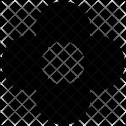 Oak leaf Glyph Icon
