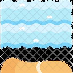 Ocean Flat Icon