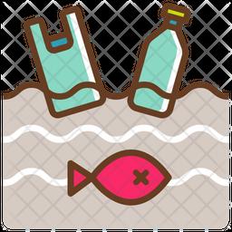 Ocean garbage Icon