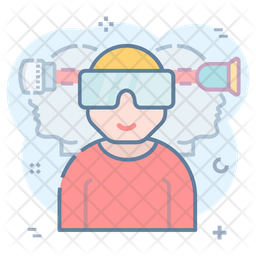 Oculus Rift Colored Outline Icon