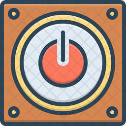 Off Colored Outline Icon