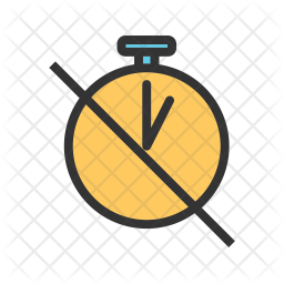 Off Timer Colored Outline Icon
