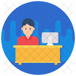 Office Worker Icon Of Flat Style Available In Svg Png Eps Ai Icon Fonts