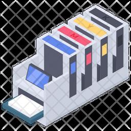 Offset Printing Machine Icon
